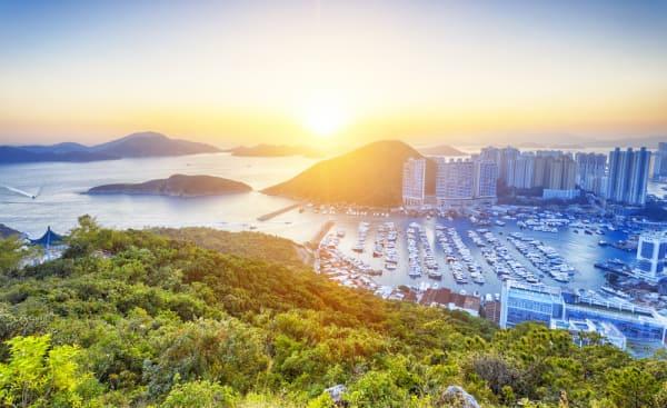 Hong Kong beautiful sunset