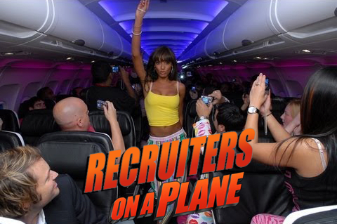 Recruiters on a plane