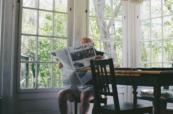 Old Man Newspaper