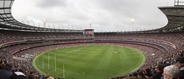 Panoramic view of Melbourne Cricket Ground on ANZAC Day 2015