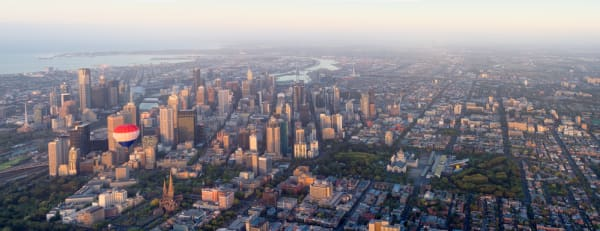 melbourne panorama from the air