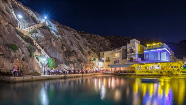 Xlendi, Gozo - Beautiful cozy summer night at Xlendi Bay, the ni