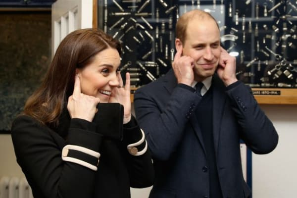 Prince William Fingers in Ears