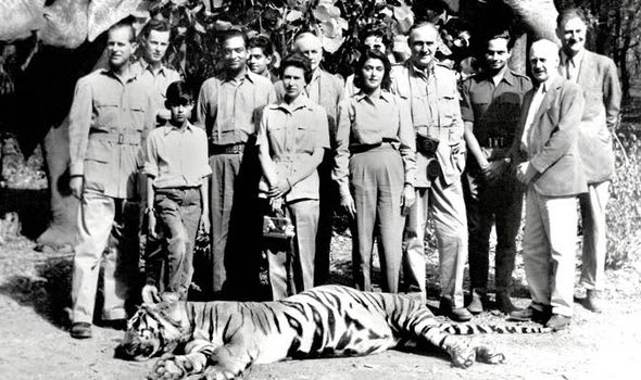 Queen with Dead Tiger