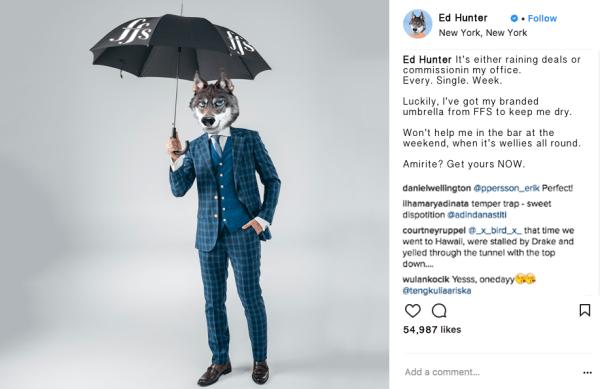 Ed Hunter Instagram Influencer Marketing Umbrella
