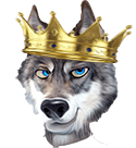 Ed Hunter Wolf Head Crown