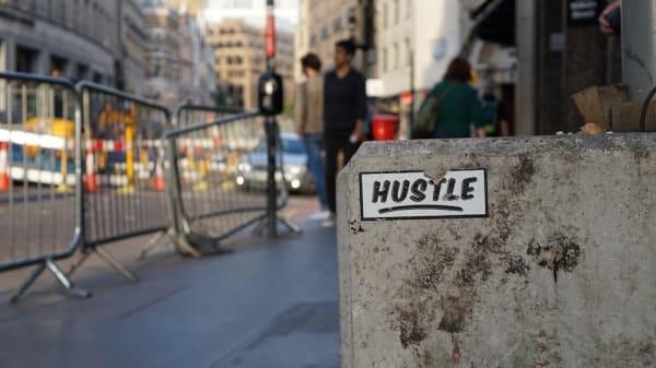 hustling street