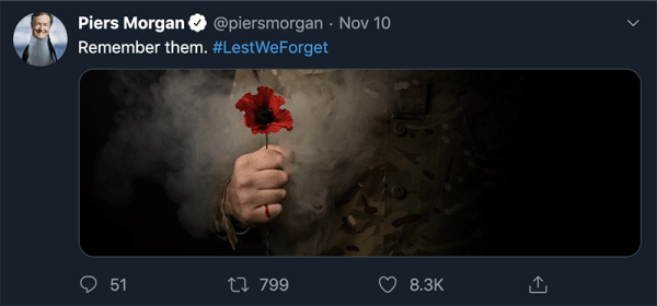 Tweet Piers Morgan