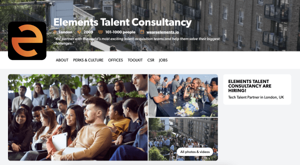 elements talent consultancy hunted profile