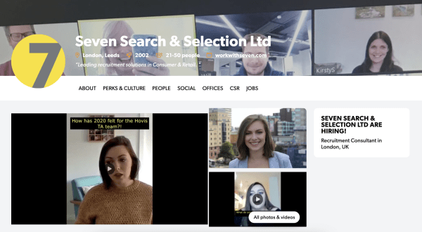Seven Search and Selection Hunted Profile