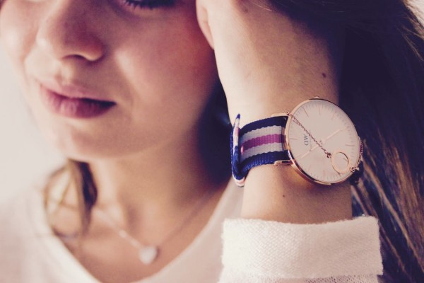 Girl with Watch On