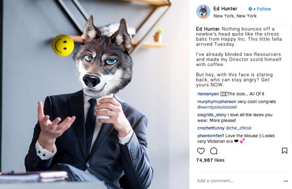 Ed Hunter Instagram Influencer Marketing Stress Ball