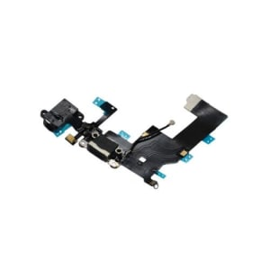 iPhone 5 Black Charging Port And Audio Jack Dock Flex