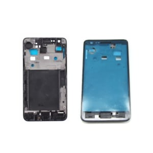 Black Faceplate Front Frame For Galaxy S2 i9100