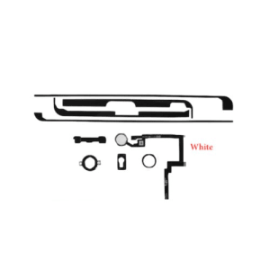 White Home Button + Flex Cable + Brackets + Adhesive Set