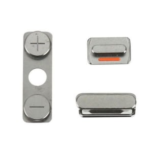 Compatible Silent Power Volume Button Set 3 Pcs Replacement For iPhone 4 & 4s