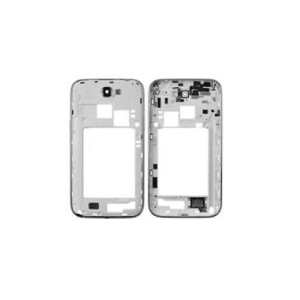 White Middle Frame Bezel For Galaxy Note 2 N7105