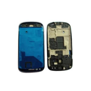 Silver Faceplate Front Frame For Galaxy S3 Mini