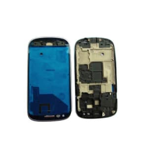 Blue Faceplate Front Frame For Galaxy S3 Mini