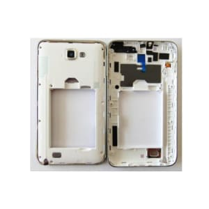 White Middle Housing Frame with Camera Lens Galaxy Note N7000