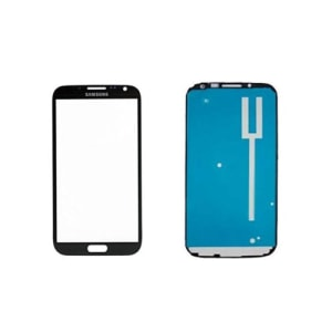 Grey Front Glass Lens And Adhesive Sticker For Galaxy Note 2