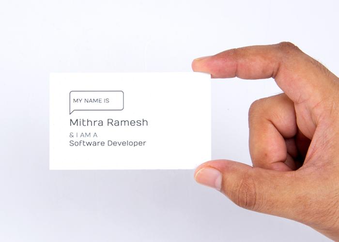 Modern business card design custom visiting cards online inkmonk reheart Images