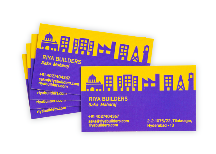 Modern business card design custom visiting cards online inkmonk reheart Image collections