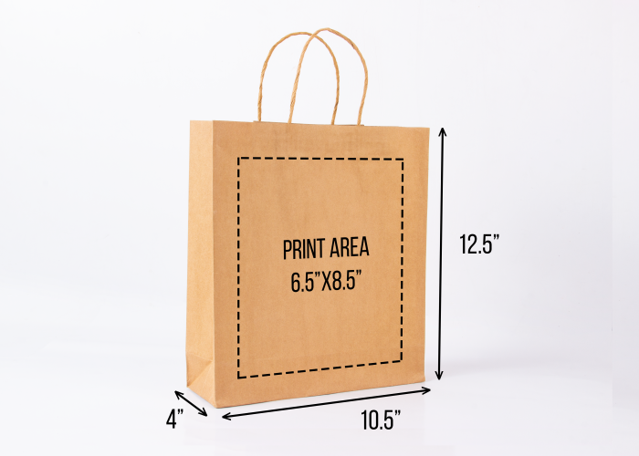 e27befee7256 Medium kraft paper bag (single colour)