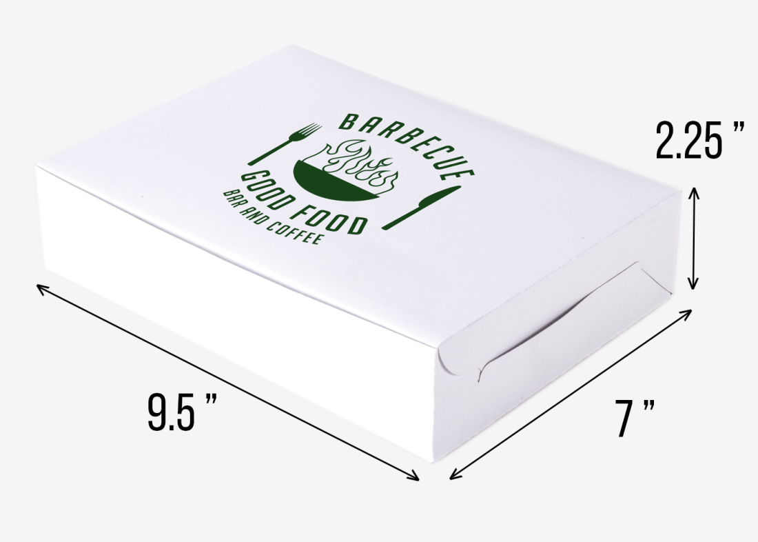 Paper Meal Box - Large (9 5 x 7 x 2 25 in)