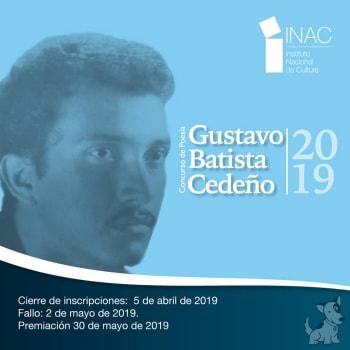 Convocatoria - Concurso de Poesía Gustavo Batista Cedeño 2019