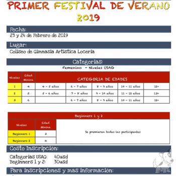 Primer Festival de Verano 2019