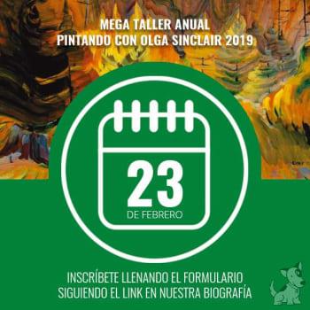 Mega Taller Anual Pintando con Olga Sinclair 2019