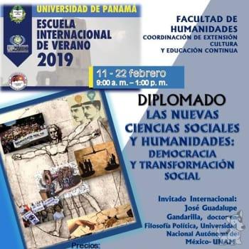 Diplomado: Las nuevas ciencias sociales y humanidades: democracia y transformación social