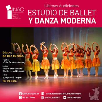 Últimas Audiciones Estudio de Ballet y Danza Moderna
