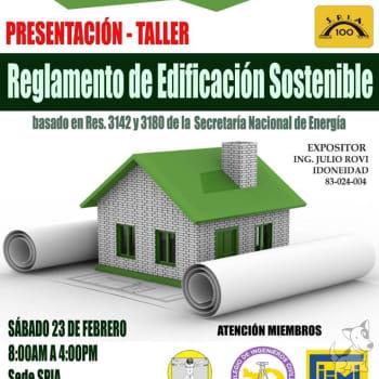 Presentación -Taller Reglamento de Edificación Sostenible