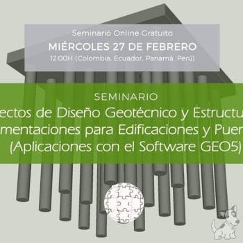 Seminario: Proyectos de Diseño de Cimentaciones con GEO5