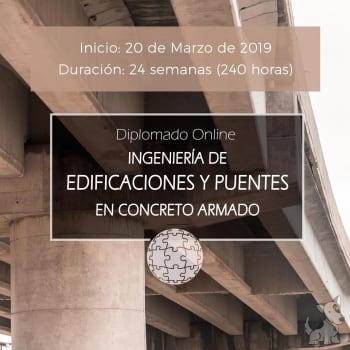 Diplomado Online en Ingeniería de Edificaciones y Puentes en Concreto Armado