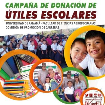 Campaña de donación de útiles escolares