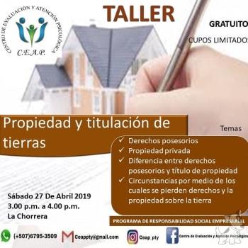 Taller:Propiedad y titulación de tierras