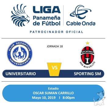 Universitario Vs Sporting San Miguelito