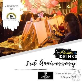 Paints & Drinks 3rd Anniversary