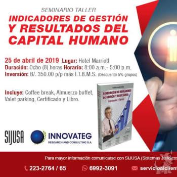 Seminario-Taller Indicadores de Gestión y Resultados del Capital Humano