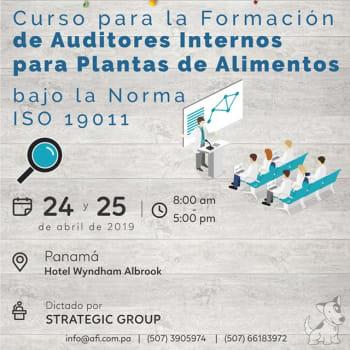 Curso para la formación de Auditores Internos para Plantas de Alimentos bajo la Norma ISO 19011:2018