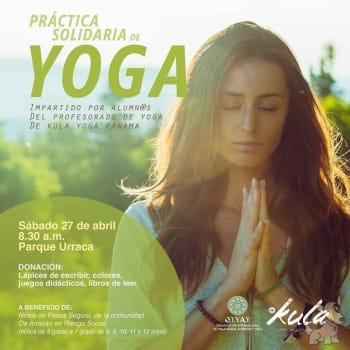 Practica solidaria de yoga