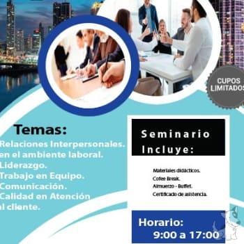 Seminario de relaciones interpersonales en el ambiente laboral en ciudad Panamá
