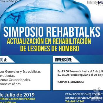 Simposio Rehabtalks actualización en rehabilitación de lesiones de hombro