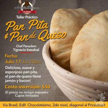 Taller práctico de pan pita y pan de queso