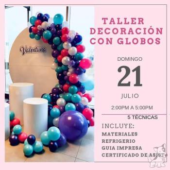 Taller de decoracion con globos