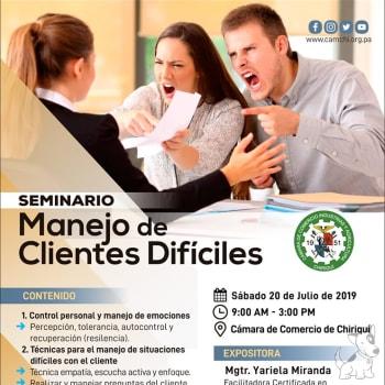 "Seminario ""Manejo de Clientes Difíciles"""