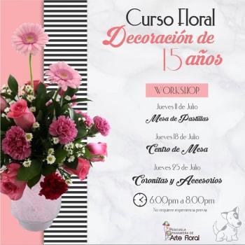 Curso Floral - Decoración de 15 años